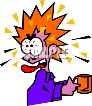 0511-1007-0114-4305_Woman_Crazy_From_Too_Much_Caffeine_clipart_image