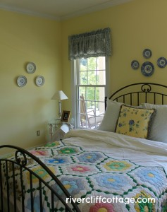 Yellow Guest Bedroom After Photo Corner View
