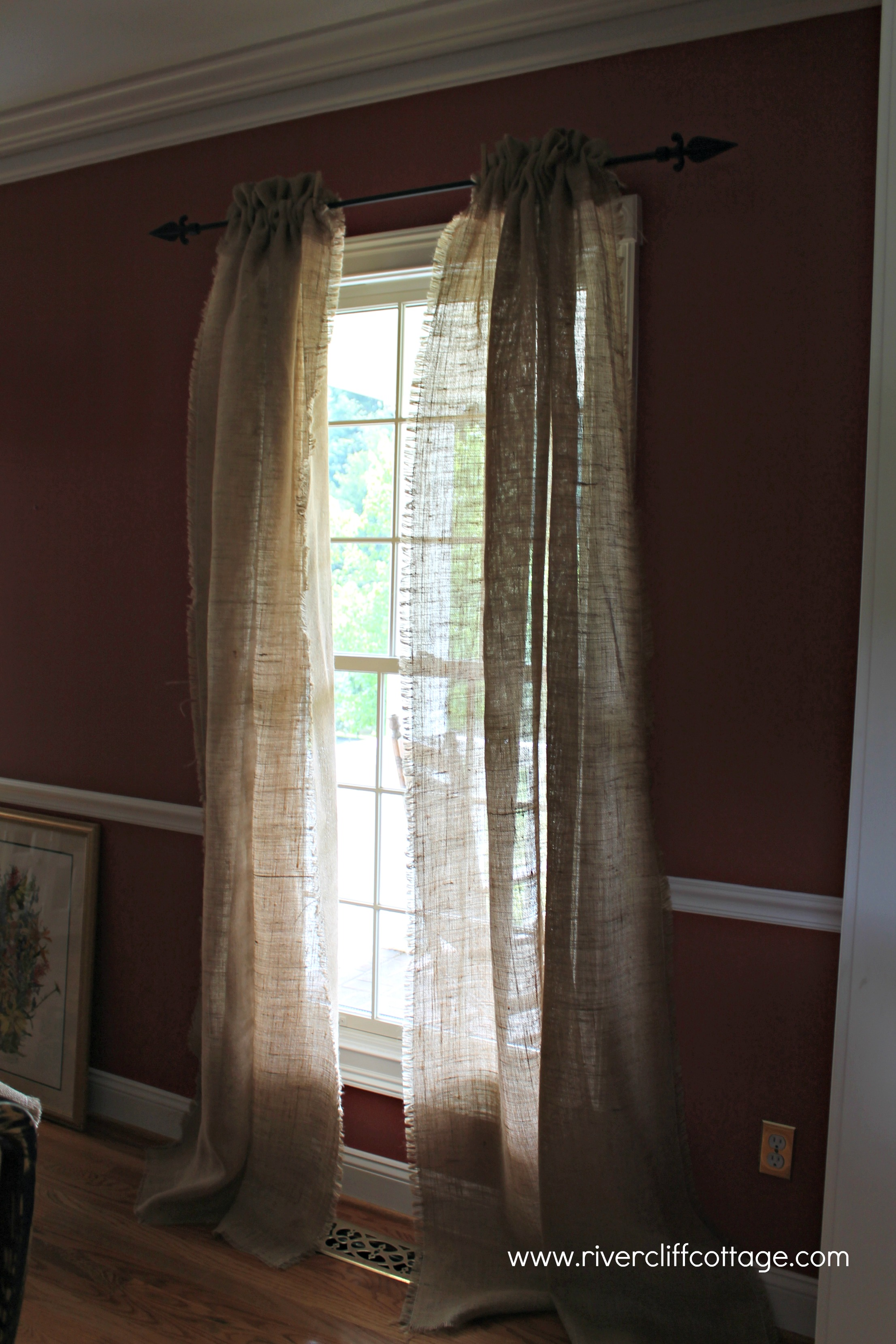 Burlap window treatments - Burlap Window Treatments 25