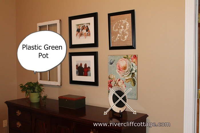 MB Dresser Area With Green Plastic Pot