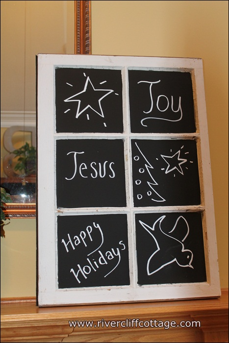 Holiday Window With Chalk Ink