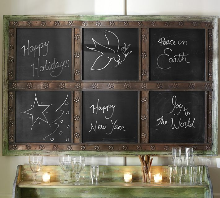 Pottery Barn Chalkboard Window