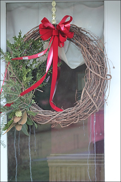 Christmas Wreath With Bird Poop
