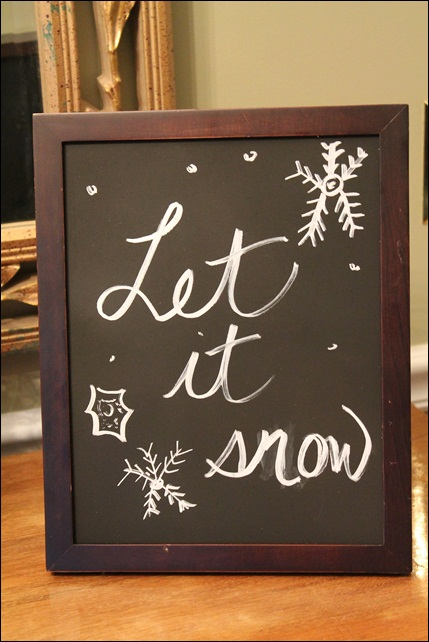 Let It Snow Chalkboard
