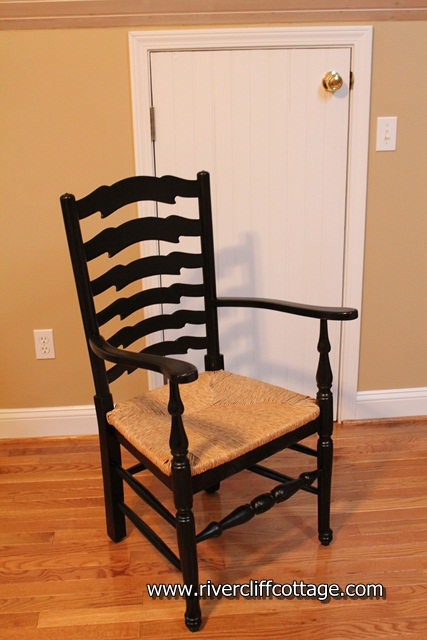 Chair painted Black