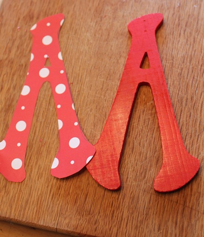 Pattern and Red Letter A