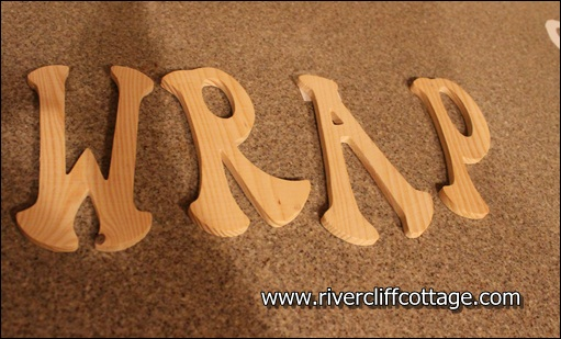 Wrap Wooden Letters from Michaels