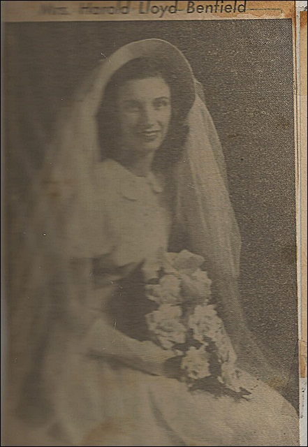 Edith in Wedding Gown