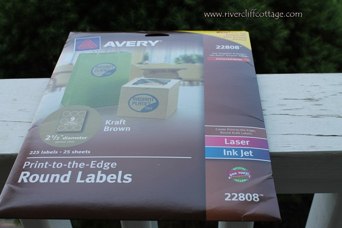 Avery Round Kraft Labels
