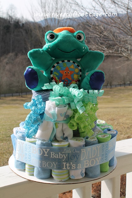 Diaper Cake Sea Turtle