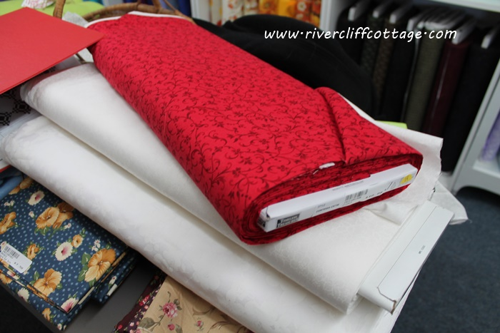 Fabric Red and White
