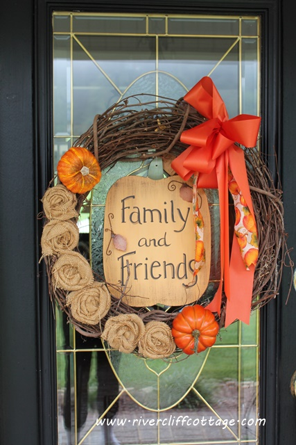 Fall Wreath Front Door 2014