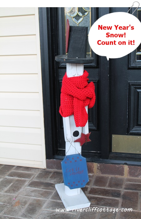 Fence Post Snowman