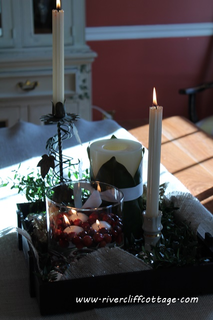Natural Christmas Table Centerpiece
