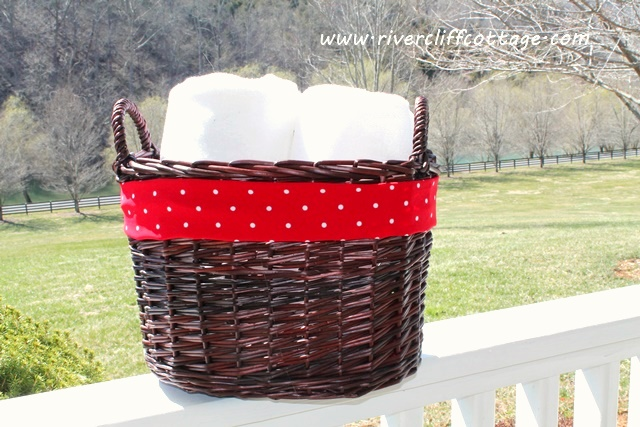 Red Towel Basket