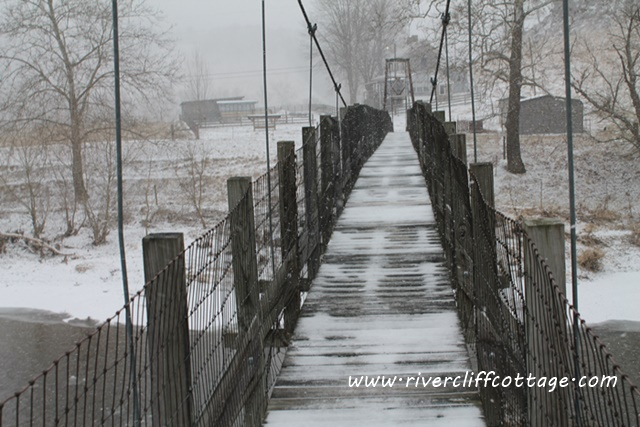 Swinging Bridge Mendota Virginia
