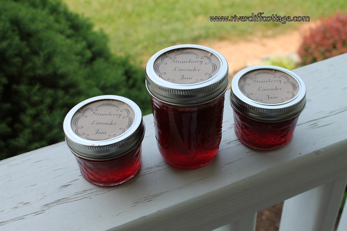 Three Strawberry Lavender Jams