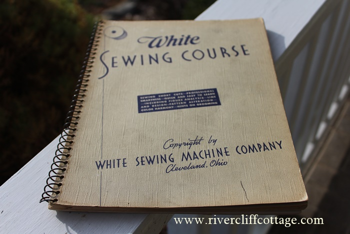 White Sewing Book