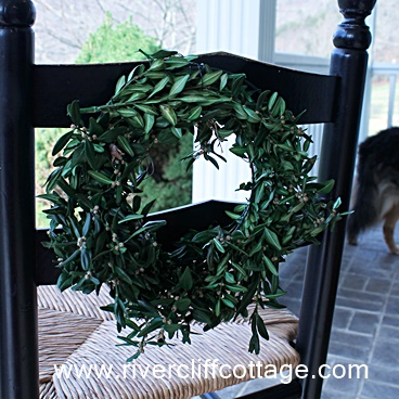 Wreath on Chair Cropped