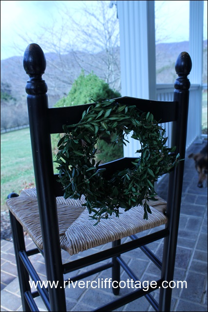 Wreath on Chair