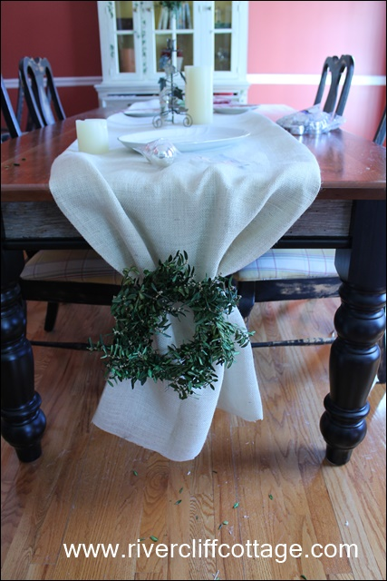 Wreath on Table Runner